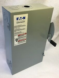 Eaton Cutler hammer General Duty Safety Switch dg222ngb 240vac 2 pole 60a b6