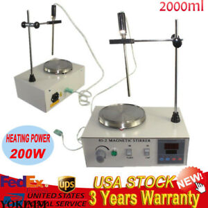 New Magnetic Stirrer With Hot Plate Control Lab Supply Digital Heating Mixer