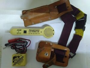 Progressive Electronics The Tracer 77m 200b Inductive Amplifier Leather Pouch