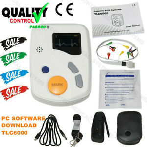 Contec Tlc6000 Dynamic 48hours 12 Lead Ecg ekg Holter Monitor Alalyzer Software