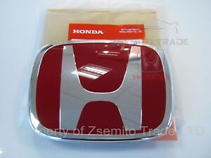 Honda Civic Type R Fk2 Emblem Front H Red Genuine Oem 2012 14 Badge Type R New E