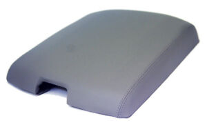 Fits 09 16 Dodge Ram Gray Vinyl Leather Center Console Lid Armrest Cover
