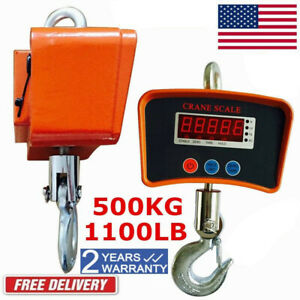 500kg Digital Hanging Scale Crane Scale Heavy Duty Industrial Lcd Display 1100lb