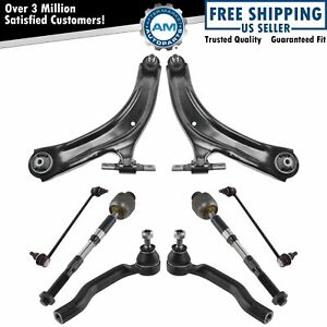 Front Control Arm Ball Joint Tie Rod Sway Bar Link Steering Suspension Kit 8pc