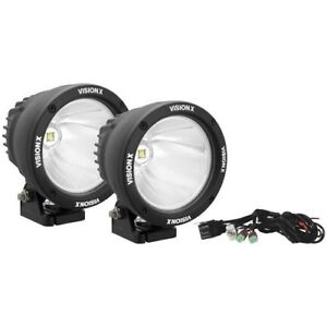Vision X Ctl cpz110kit Canon Round Led Driving Lights 25 Watt 10 Wide pair