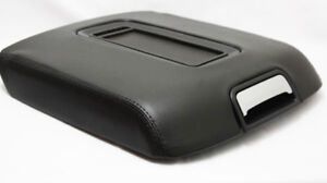Fits 15 19 Chevy Tahoe Yukon Black Real Leather Center Console Lid Armrest Cover