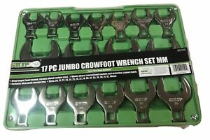 17pc Grip Metric Jumbo Crow Foot Wrenches Set Crowfoot 20 46mm Open End Mm 90152