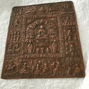 Antiques Cooper Panel Life Of Buddha This Panel Is Extraordinarily Beautiful