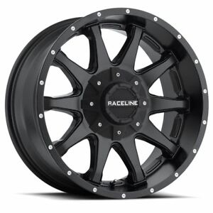 4 New 18x9 18 Raceline 930b Shift Satin Black 5x150 5x139 7 Wheels Rims