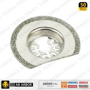 AB50O 63mm Diamond Semi-Round Electroplated Blades 50Pack Fits Fein Multimaster