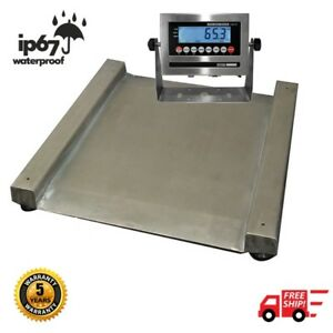 2 000 Lb Stainless Steel Barrel Scale Wash Down 28 X 28 Drum Scale Ntep