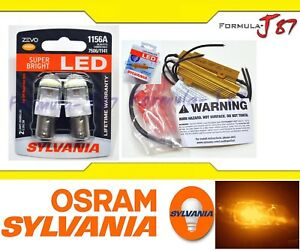 Sylvania Zevo Led Light Bulb 1156 Amber Orange Resistor Combo Hyper Flash Fix Oe