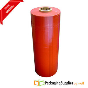 20 X 80ga X 5000 Pallet Machine Wrap Tinted Red Stretch Shrink Film 3 Rolls