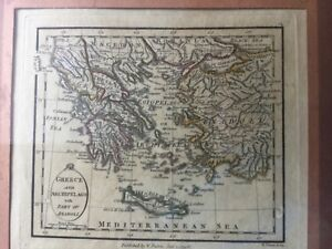 Faden Miniature Map Greece And Archipelago