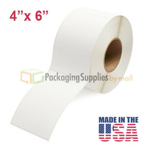 4 X 6 Thermal Transfer Labels 3 Core Roll Perforated 1000 roll 12 Rolls