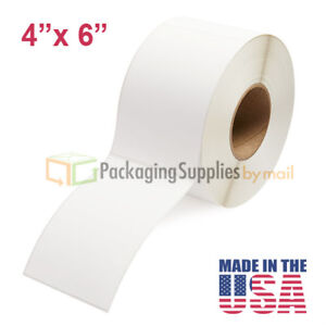 Thermal Transfer Labels 4 X 6 Roll Perforated 3 Core 1000 roll 28 Rolls