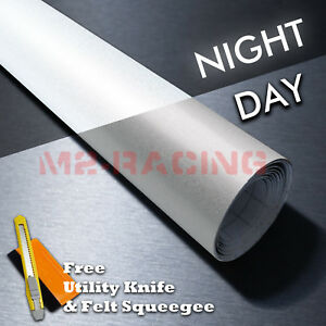 48 x84 Reflective White Vinyl Wrap Sticker Decal Graphic Sign Adhesive Film