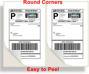 4000 Shipping Labels Rounded Corners 2 Per Sheet 8 5 X 11