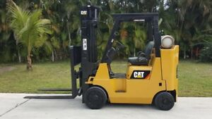 2010 Caterpillar Forklift Cat Fork Lift 8000 Lbs Box Car Special Propane
