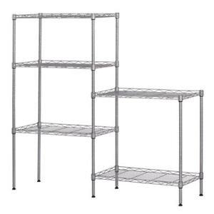 60 x22 x12 Heavy Duty 5layer Wire Shelving Rack Adjustable Shelf Storage Silver