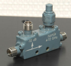 Narda 4245 10 Miniature Directional Coupler 10db 4 12 4 Ghz Sma f f f