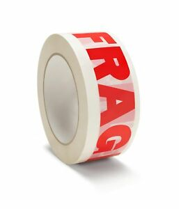 Fragile Printed Packing Tapes 2 X 110 Yard Carton Sealing Tape 2 Mil 144 Rolls