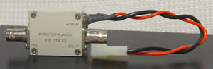Pasternack Pe 1500 Rf Power Amplifier Bnc f Coaxial Connectors 15vdc Used