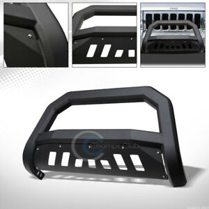 Fit 05 07 Jeep Grand Cherokee Commander Matte Blk Avt Bold Bull Bar Grille Guard
