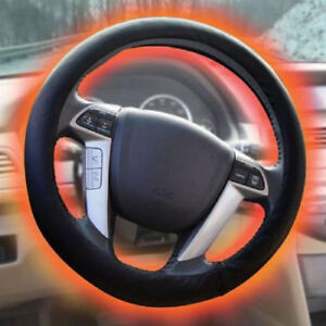 Best Heated Steering Wheel Cover Adjustable Temperature 12v Dc Hand Warmer Black