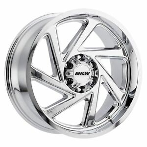 1 New 20x9 10 Mkw Offroad M98 Chrome Wheel Rim 6x135