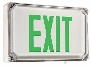 Dual lite Led Exit Sign With Battery Backup White Housing Color Cast Aluminum