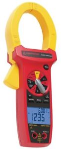Amprobe Clamp On Digital Clamp Meter 2 Jaw Capacity Cat Iv 600v Acdc 3400