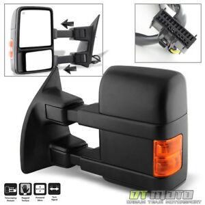Driver Side 2008 2016 Ford F250 F350 Super Duty Power Heated Signal Tow Mirror