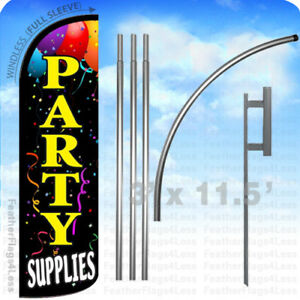 Party Supplies Windless Swooper Feather Flag Kit 15 Sign Kq