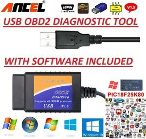 Peugeot Citroen Obd2 Usb Original Car Code Scanner Diagnostic Tool Interface