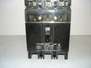 used Westinghouse Fb3015s 15a 3p 600v Circuit Breaker used