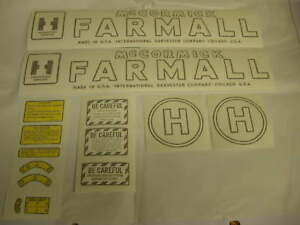 Ihc Farmall Model H Tractor Decal Set Vinyl Cut New Free Shipping