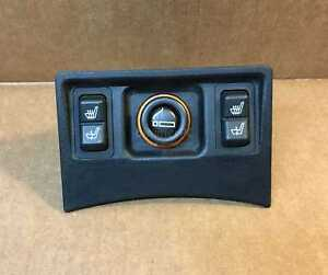 Bmw E34 5 series Rear Heated Seats Switches Lighter Plate Trim E32 1989 1995 Oem