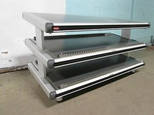 hatco Commercial Counter Top 2 Tier 60 w Heated Lighted Display Merchandiser