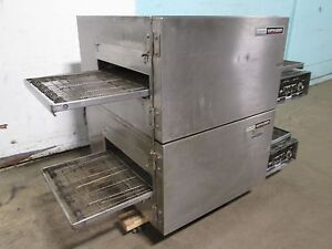 lincoln Impinger Commercial Hd Double Stacked 3ph Electric Conveyor Pizza Oven