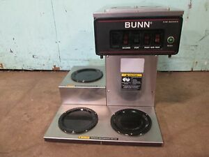 bunn Cwt 15 Commercial Hd pour over automatic Coffee Brewer W 3 Pot Warmers