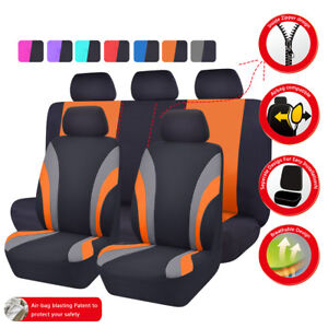 Universal Car Seat Covers Black Orange For Women Girls Fit Suv Truck Suv Honda