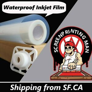 44 X 100 1 Roll waterproof Inkjet Transparency Film Paper Screen Printing 5mil