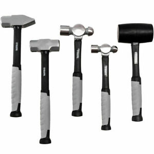 5 Piece Hammer Set Professional Blacksmith Propane Forge Tool Shop Garage Kit