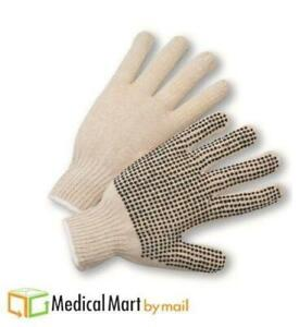 84 Pairs Pvc Dot Gloves Single Dotted Side Safety Work Men