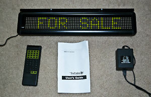 New Pro lite Green Led Programmable Scrolling Message Board Sign Bar Remote