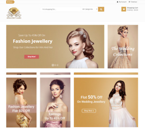 Profitable Jewelry Affiliate Store Online Business Website For Sale