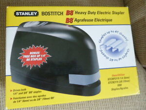 Stanley Bostitch B8 Heavy duty Electric Stapler Value Pack 45 Sheet Cap Black