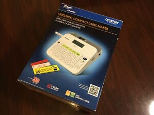 Brother P touch Compact Label Maker Pt d400 In Box With Manual Tested Works