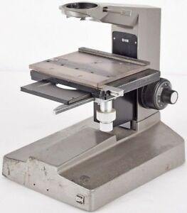 Olympus Bh Laboratory Adjustable Microscope Base Stand Unit W Sliding Stage